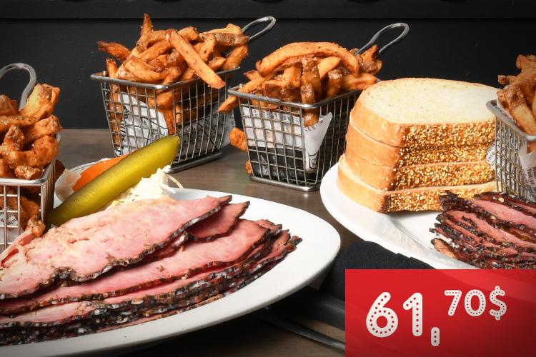 Moe's | Combo smoked meat